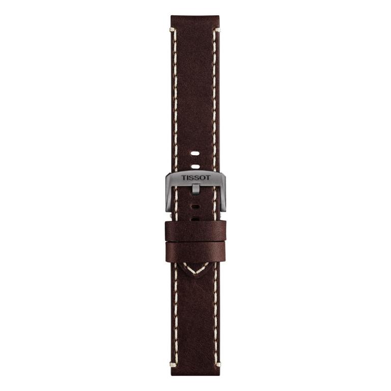 44d0c2efe317aa Pasek Tissot T116617 Chrono - skórzany brązowy 22mm/22mm (05184)