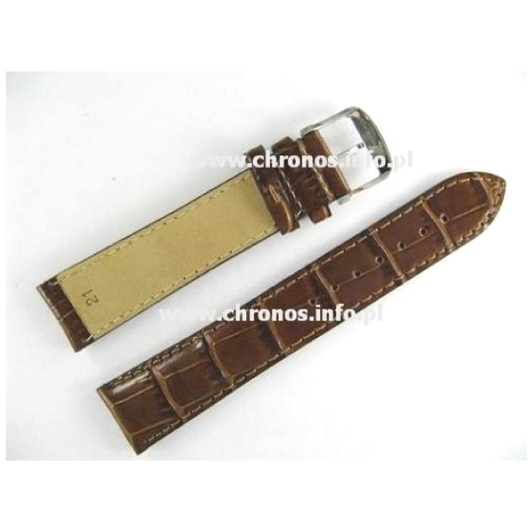 fc22d4bf1eb3e5 Pasek Longines 21mm/18mm - DolceVita Chronograph skórzany brązowy (fason  aligator) XL (03681)
