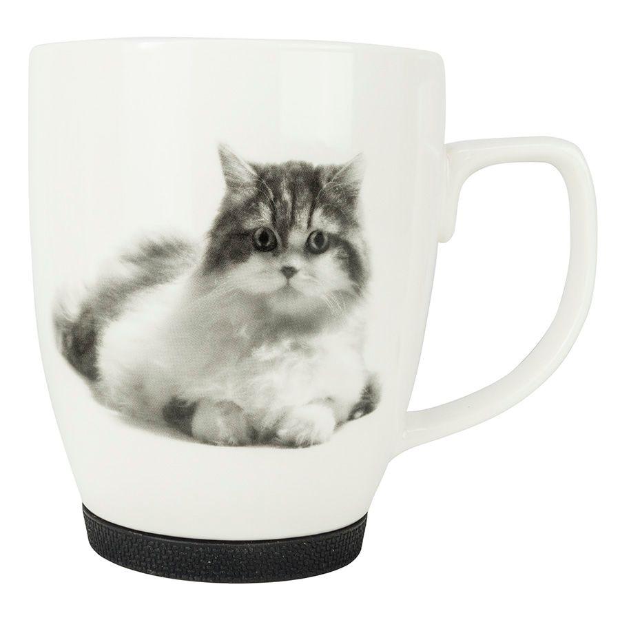 Kubek Z Kotem Z Gumowym Zabezpieczeniem Kot Ragdoll E Jd