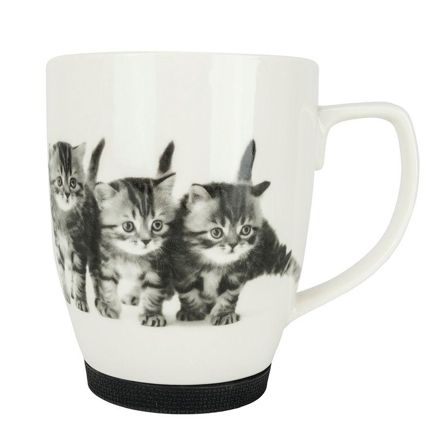 Kubek Z Kotem Z Gumowym Zabezpieczeniem Trzy Kociaki E Jd