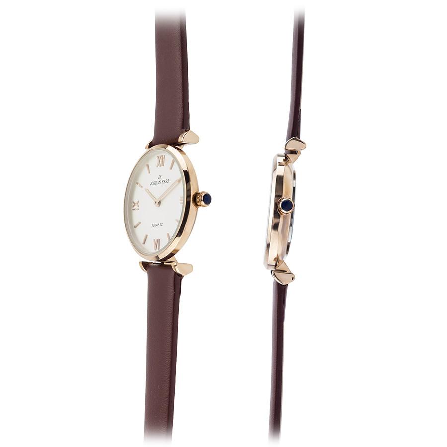 Zegarek damski klasyczny Jordan Kerr, bordowy S2210L