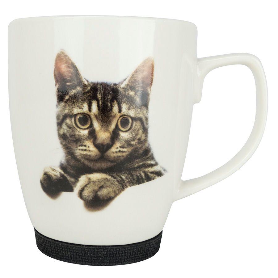 Kubek Z Kotem Z Gumowym Zabezpieczeniem Kot Mruczek E Jd