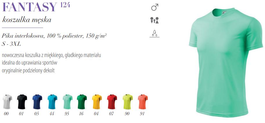 7b1b299690d19a Koszulka sportowa męska FANTASY 124 - 10 kolorów - Koszuleczka.pl ...