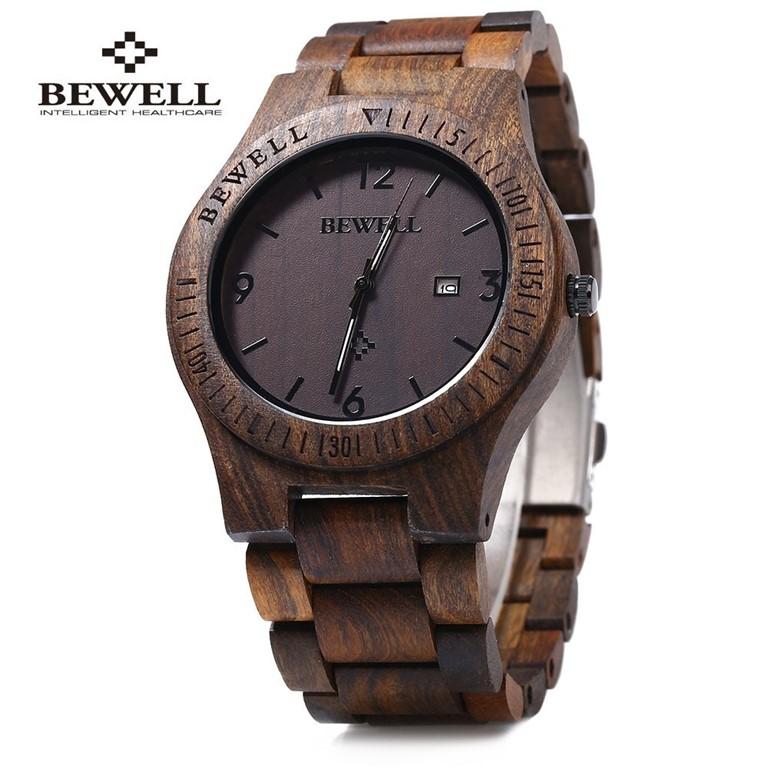 bewell zegarek drewniany