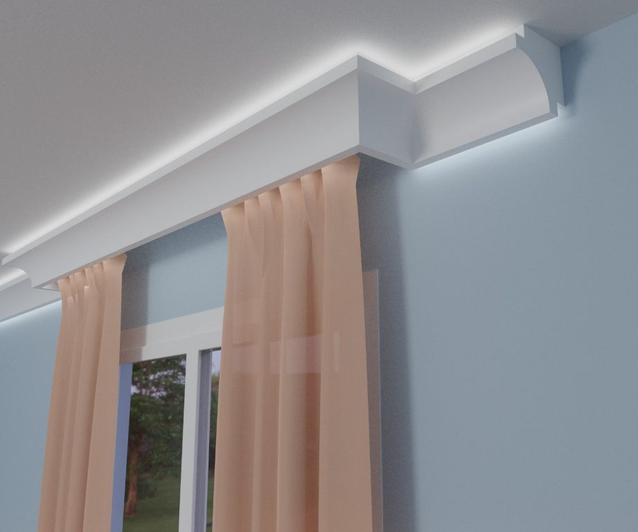 Masywnie Listwy dekoracyjne, Gzymsy wewnętrzne sufitowe LED - Sklep IE54