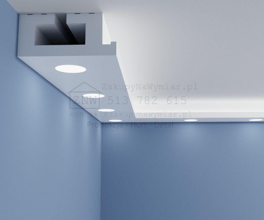 Wspaniały Listwy dekoracyjne, Gzymsy wewnętrzne sufitowe LED - Sklep GE51